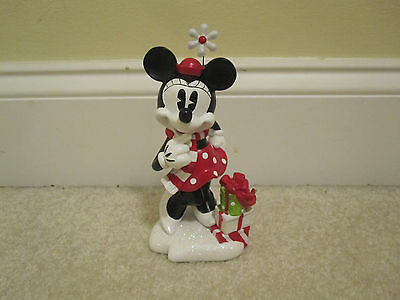 Disney Minnie Mouse Holiday Statue resin figure new with tags Christmas present