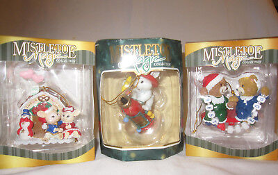 Lot Of 3 Walmart Mistletoe Magic Christmas Ornaments