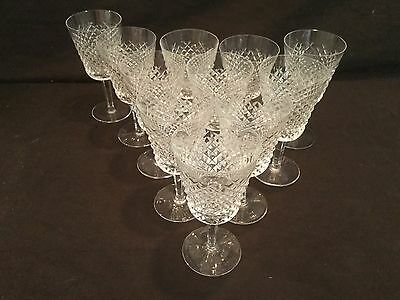 Set Of 11 Waterford Crystal Water Glasses In The Alana Pattern