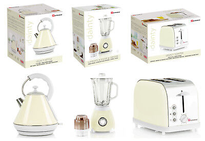 Matching Cream Set Stainless Steel Electric Kettle Blender Toaster & Set 1.8L