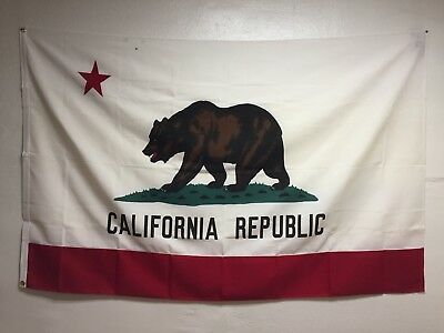 Large Vintage 5x7 California Republic Bear State Flag Pennant Old