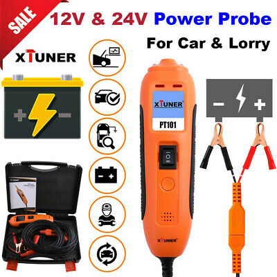 12V 24V Power Probe Car Circuit Tester Electrical AVOmeter Battery Analyzer Tool