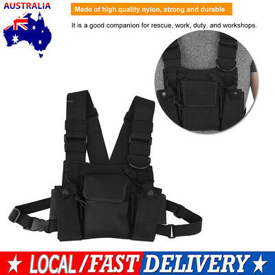 Radio Walkie Talkie Chest Pocket Harness Bag Pack Backpack Holster High Quality