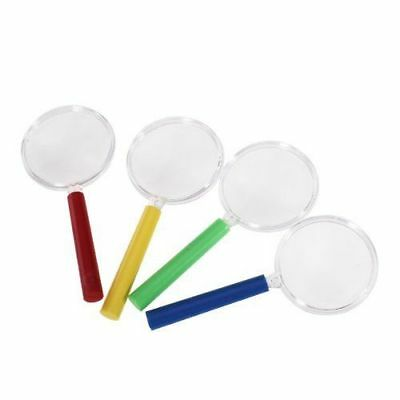 4x Kids Magnifying Glass Plastic Educational Science Learning Toy School Project