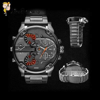 Hot Stainless Steel Luxury Sport Analog Quartz Modern Men Fashion Wrist Watch