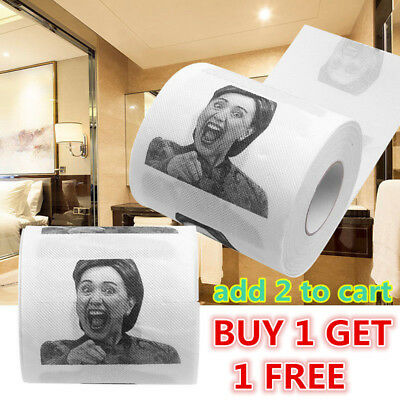 Hillary Clinton Toilet Paper Novelty Political Roll Prank Funny Gag Gift