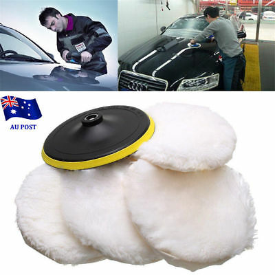 "5x7"" 180mm Soft Wool Car Detailing Polishing Buffer Polisher Bonnet Pad Loop NW"