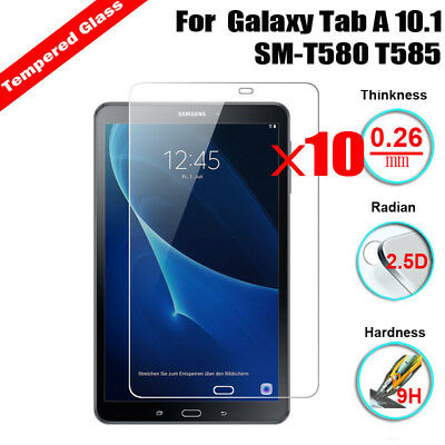 10Pcs Tempered Glass Screen Protector For Samsung Galaxy Tab A 10.1 SM-T580 T585