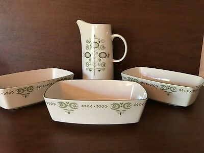 Franciscan Heritage, MCM Pieces, Lot of 4