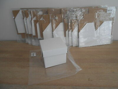 Gloss White Cardboard/gift  Boxes With Lids X 13