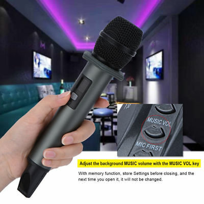 Bluetooth Wireless Handheld Microphone Mic Mobile Phone System With Receiver Box