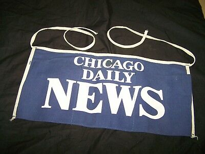 Vintage Chicago Daily News Coin Change Apron Canvas Corner Newstand Paperboy
