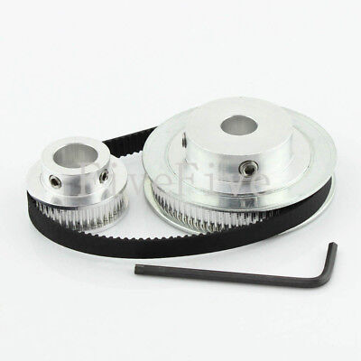 GT2 80//16 Teeth Pitch2mm W6mm Timing Pulley Belt set kit Reducer Ratio 5:1