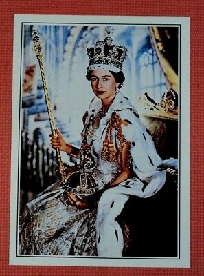Portrait print of Queen Elizabeth II in Coronation - A 4 size