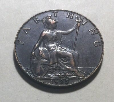 Great Britain (UK) 1925 Farthing Coin - King George V