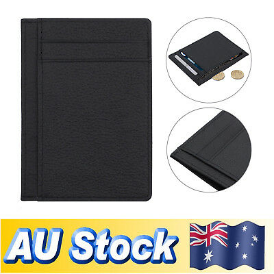 Men's Leather Slim Money Wallet Opal Credit ID Card Holder 6 Slots Wallet AUS