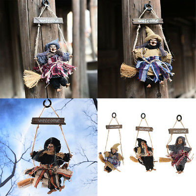 HALLOWEEN HANGING WITCH voice control witch Window Ornament