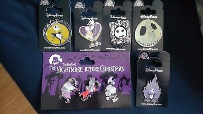 DISNEY PIN LOT 8 NIGHTMARE BEFORE CHRISTMAS. NBC **NEW Release** 2018 LE dsf