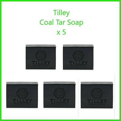TILLEY SOAP x 5 Coal Tar Soap 100gm   - AUSTRALIAN MADE