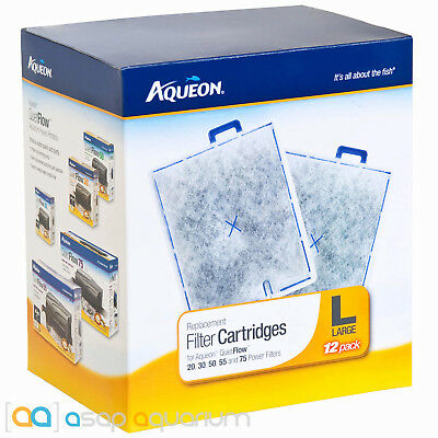 Aqueon QuietFlow Replacement Filter Cartridges Large 12pk Fast Free USA Shipping