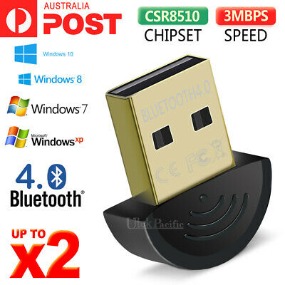 V4.0 Mini Wireless USB Bluetooth Adapter Dongle Receiver PC WIN 7 8 10 XP VISTA