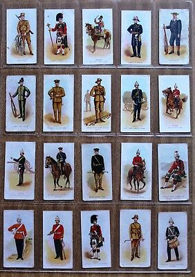 1910 Wills Cigarette Cards: TYPES OF THE COMMONWEALTH  FORCES   (set of 50)