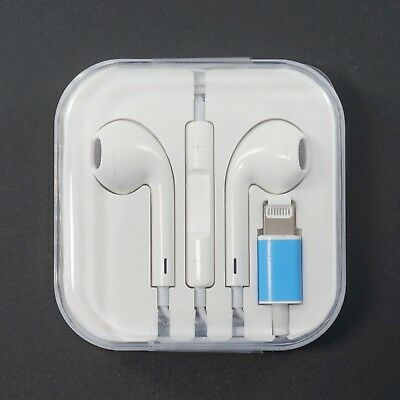 Bluetooth Wired Earbuds Headphones w/ Lightning Port Headset  for Apple iPhone