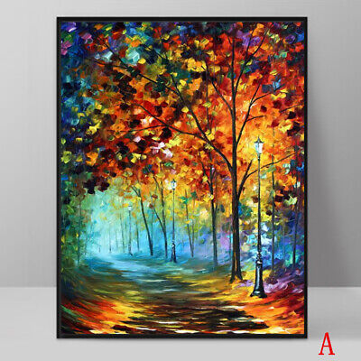 Art Oil Painting Modern Decor Colour Scenery Picture Print On Canvas No Frame