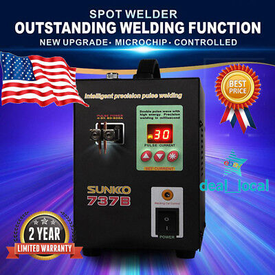 1.5KW Handheld SUNKKO 737A-B Battery Spot Welder w/ Pulse Display 0.2MM
