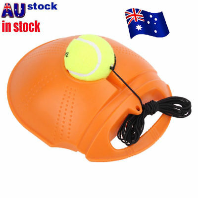 Outdoor Tennis Ball Singles Training Practice Drills Back Base Trainer  NW