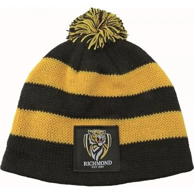 Richmond Tigers Official AFL Chunky Knit Baby Infant Beanie
