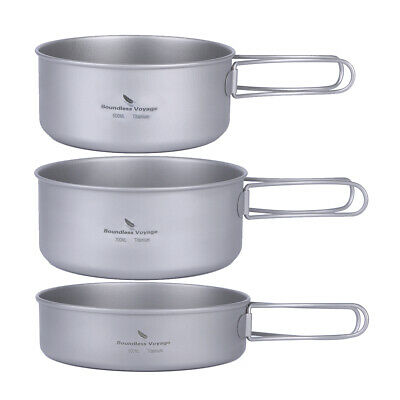 Boundless Voyage Titanium Camping Cookware Pot Set Lightweight Camp Cookware