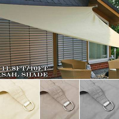 3.6m Sun Shade Sail Waterproof Canopy Patio Awning Garden 98%UV Block Party Rope