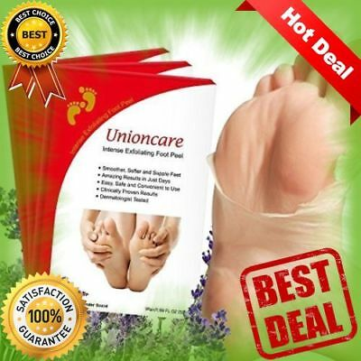 RARE 3 Pack Intense Exfoliating Foot Peel Mask Exfoliate For Soft Feet Unioncare