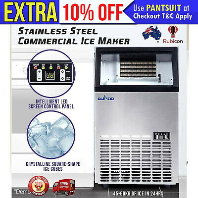 New Commercial Ice Cube Maker Machine Auto Home Business Café Portable Domestic
