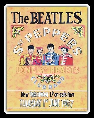 The Beatles Sergeant Sgt Peppers Lonely Hearts Band Metal Plaque Tin Sign 1473