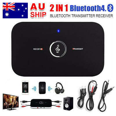 2in1 Bluetooth V4.1 Transmitter Receiver Stereo Audio Music Adapter AUX Splitter
