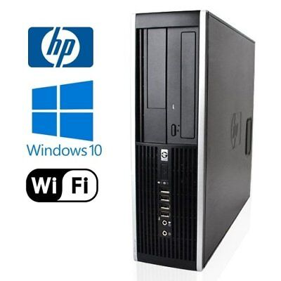 FAST Cheap HP Elite 8000 Dual Core HDD SSD Windows 10 WiFi Desktop PC