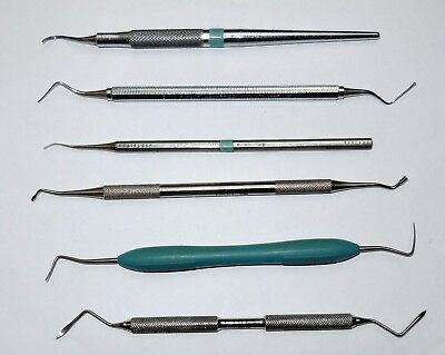 6 s/s dental tools from closure of dental practice. Including root tip elevator