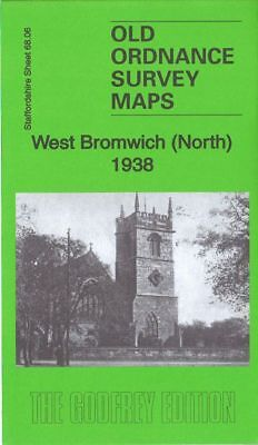 Old Ordnance Survey Map West Bromwich North 1938 Hill Top Churchfield Blacklake