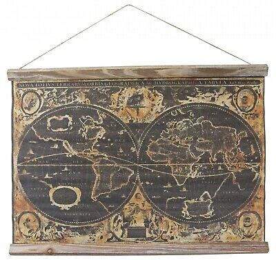 Map historic roll map wall map continent antique style Orbis Geographica