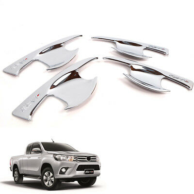 For 2015+ Toyota Hilux Invincible M70 M80 Bowl Handle Insert 4 Doors Cover Trim