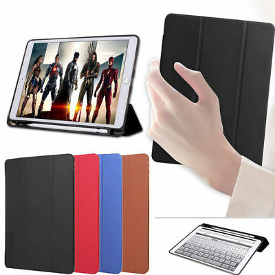 """For iPad Pro 10.5""""/12.9"""" 2017 Case PU Slim Smart Cover With Apple Pencil Holder"""