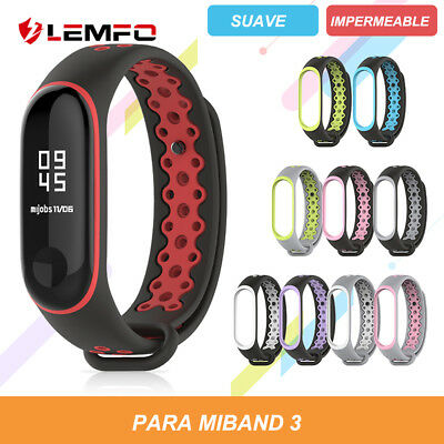 2019 Original Xiaomi Mi band 3 Correa Deportiva Doble color Silicona Pulsera