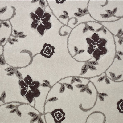 LUXURY 14mm Thick Carved Floral Wilton Carpet 4m Wide £12.99Sqm