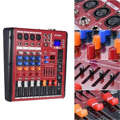 Professional 4-Kanal Mic Line Audio Mixer Mischpult 2-Band EQ N2S2