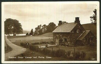 Postcard - Meadow Green Cottage & Putting Green, New Abbey,Dumfries - Real Photo