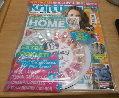 Simply Knitting magazine #176 2018 + Knitting clips, Home knits booklet & more