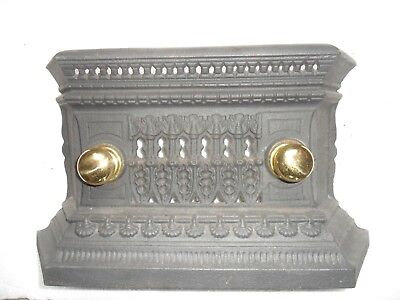 original reclaimed cast Iron  ash cover for antique  fireplace