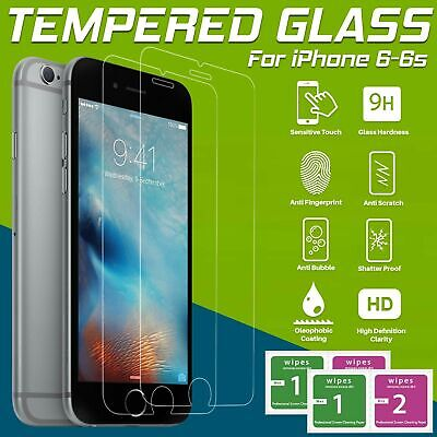 For Apple iPhone 6s & 6 – 100% Genuine Tempered Glass Film Screen Protector UK